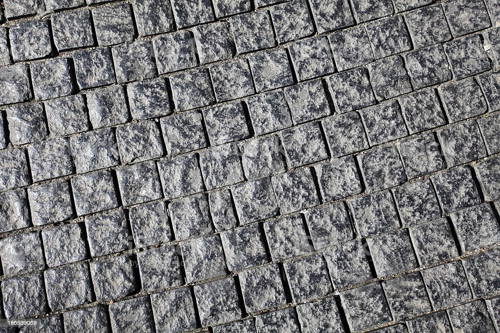 Cobbled Road Texture royalty-free stock photo