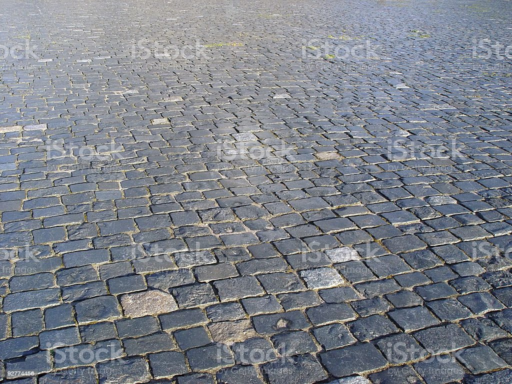 Cobbled square royalty-free stock photo