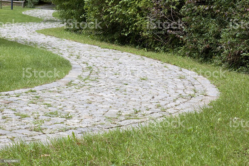 cobbled stone path royalty-free stock photo