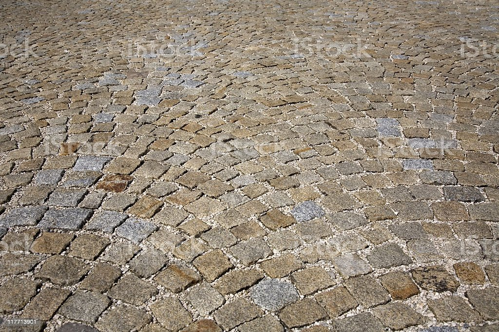 cobbled stone road royalty-free stock photo