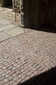 Cobbled Stones at Cathedral Church; Ely; Cambridgeshire