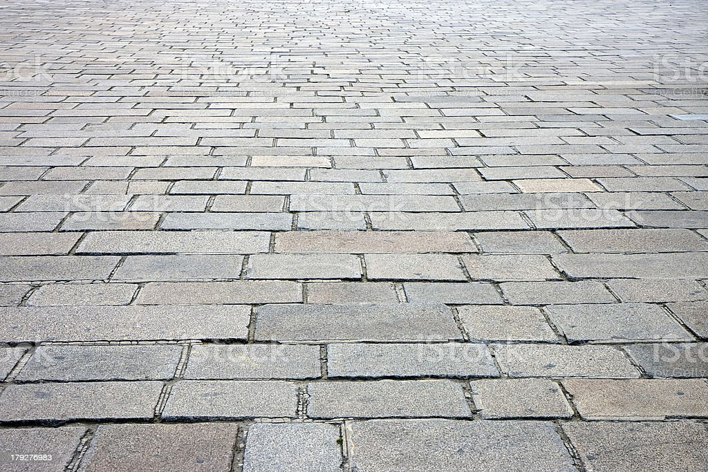 Cobbled street in Paris stock photo