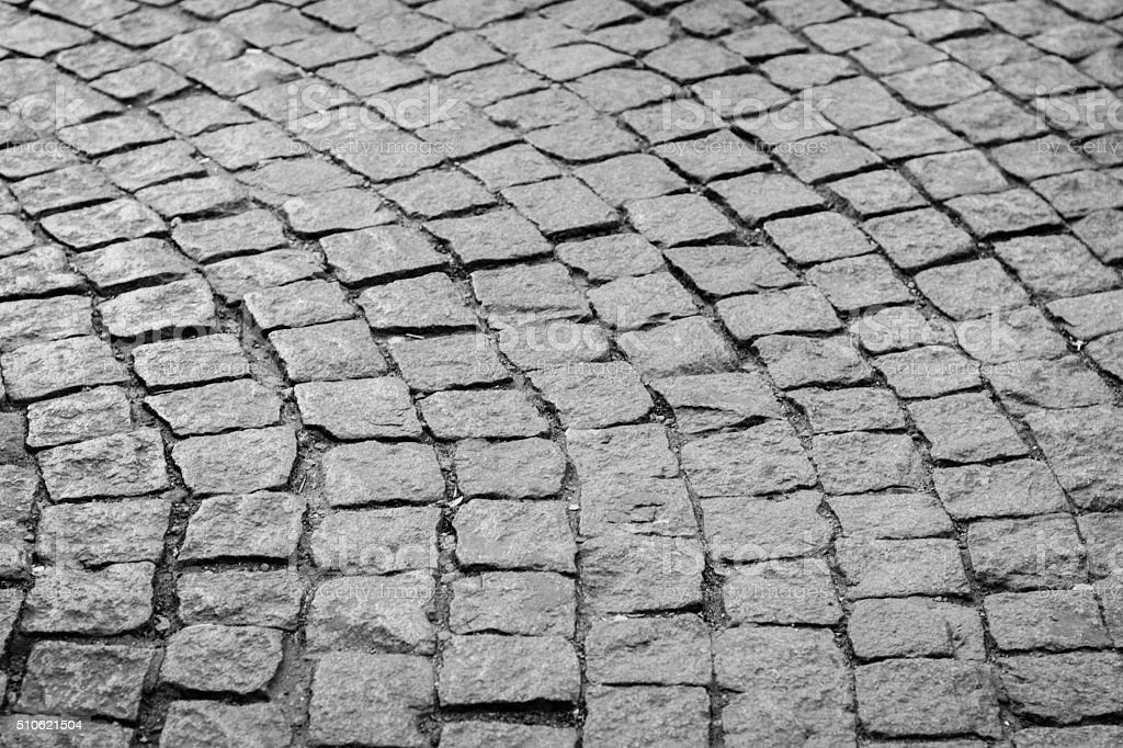 Cobbled street stock photo