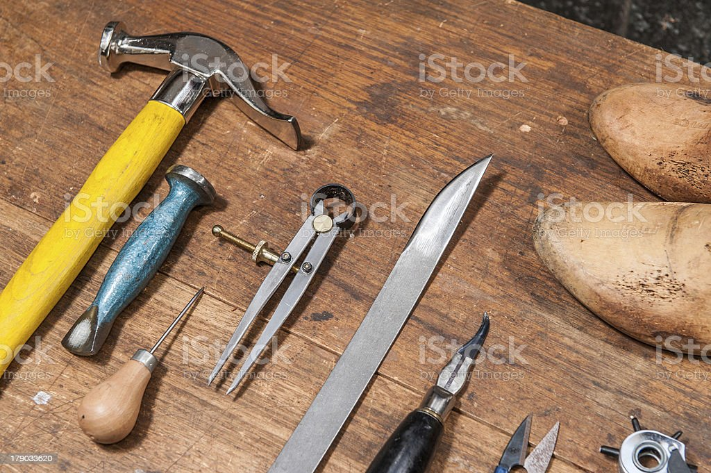 Cobbler stock photo