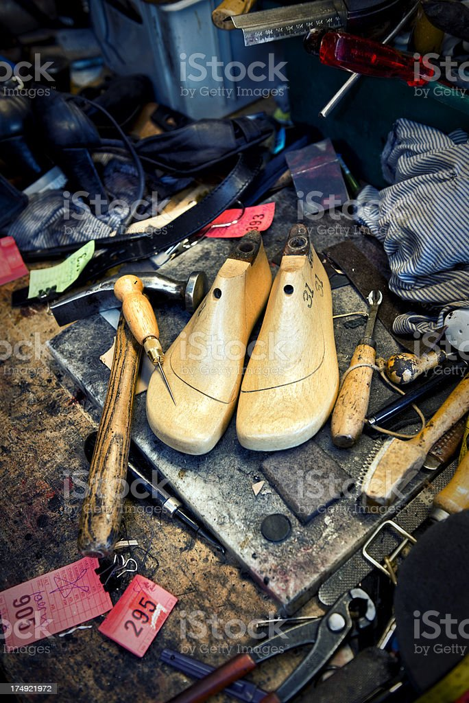 Cobblers Tools of the Trade stock photo