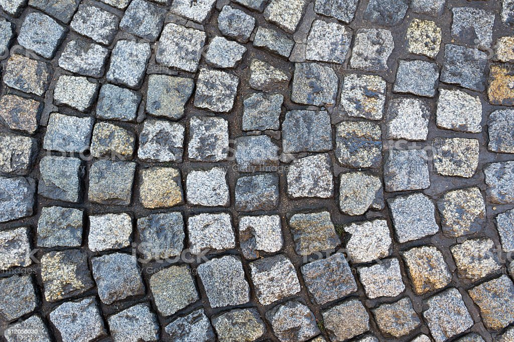 Cobbles ground stock photo