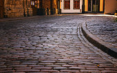cobbles on the pavement in the old town