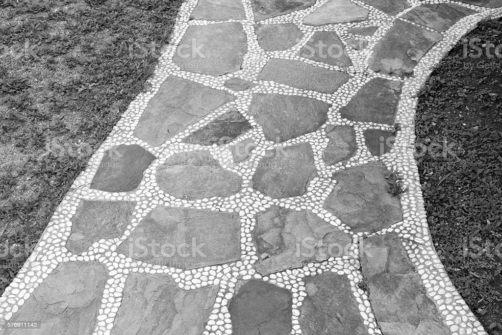 Cobblestone and pebbles walkway photo libre de droits