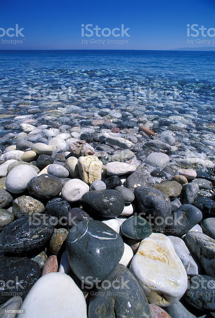 cobblestone in greek island royalty-free stock photo