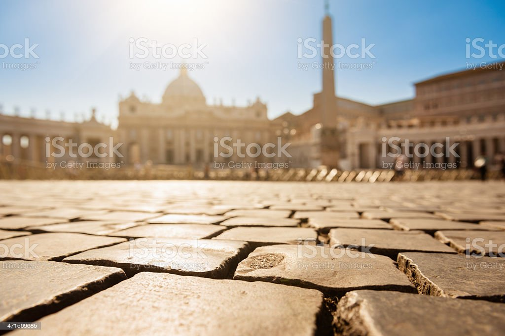 Cobblestone in st. peter royalty-free stock photo