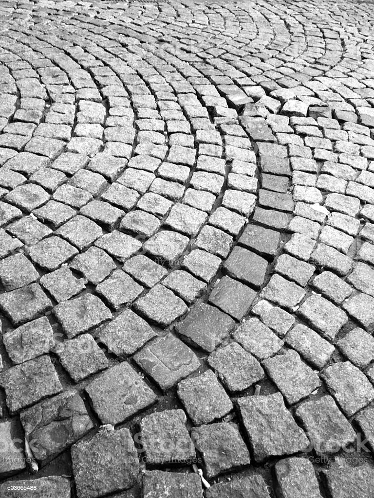 Cobblestone pattern background stock photo
