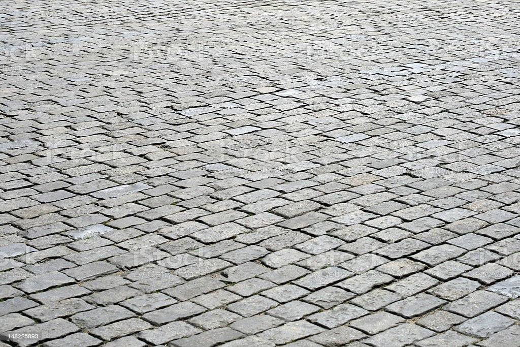 Cobblestone pavement at Red Square, Moscow, Russia royalty-free stock photo