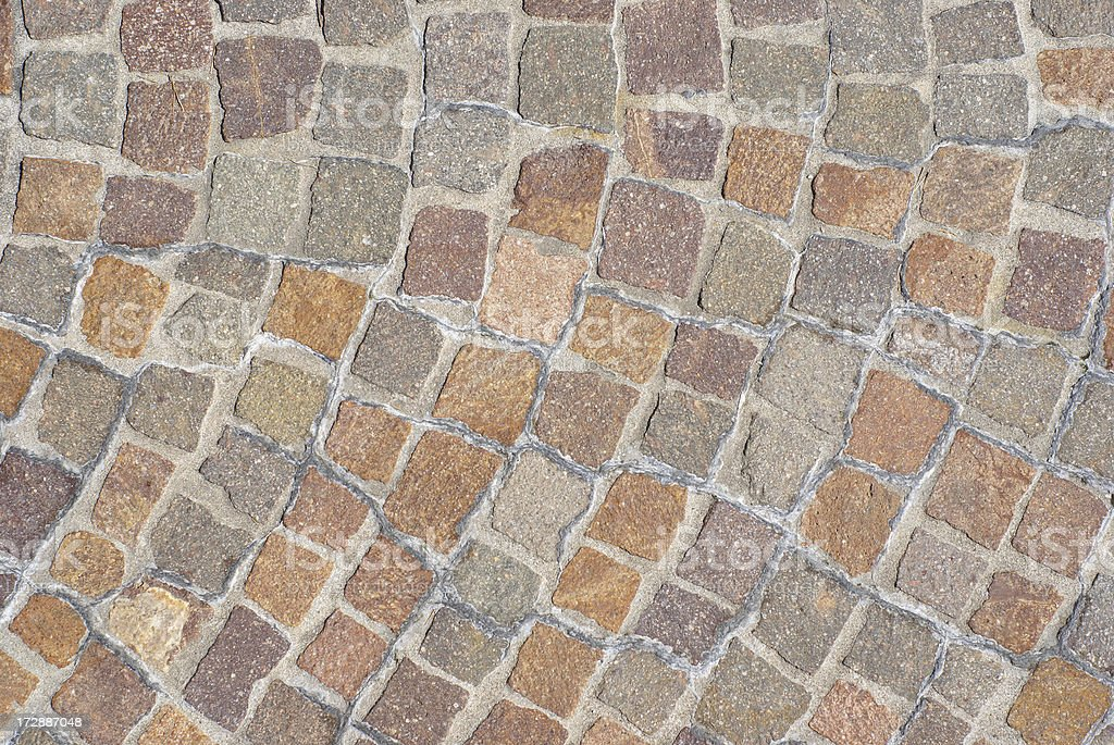 Cobblestone pavement close up royalty-free stock photo
