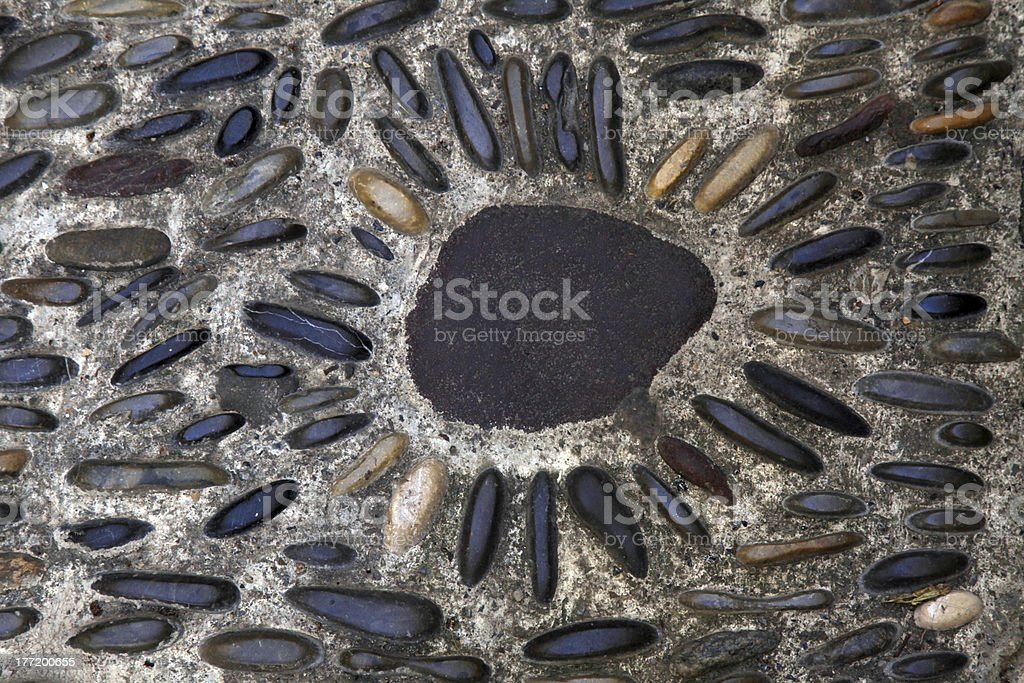 Cobblestone pebbles background royalty-free stock photo