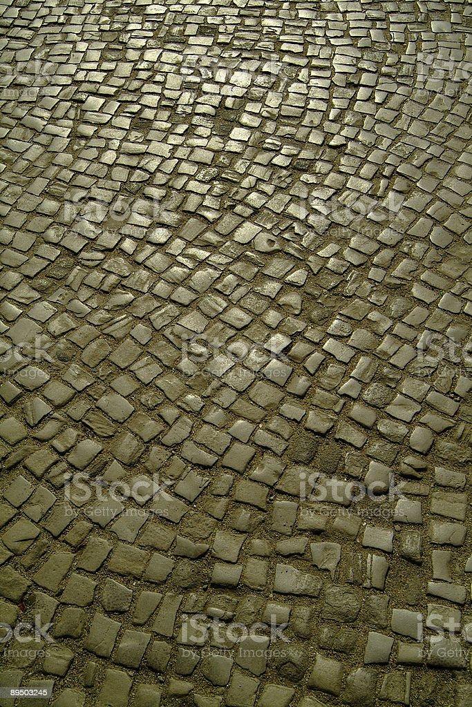 cobblestone road stock photo