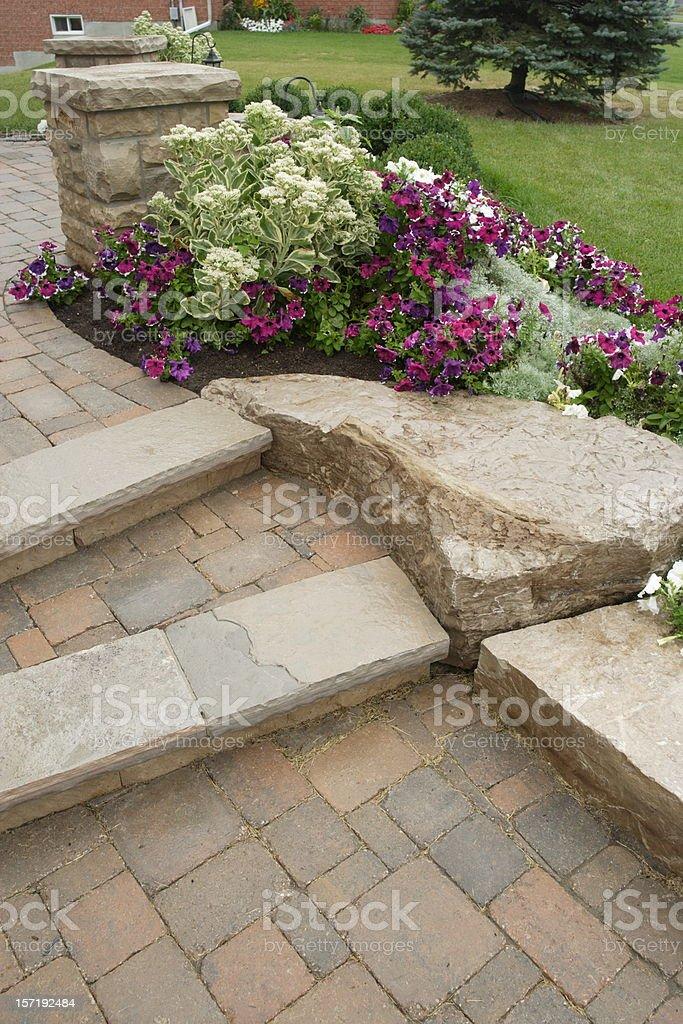 Cobblestone steps royalty-free stock photo