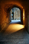 Cobblestone street passageway
