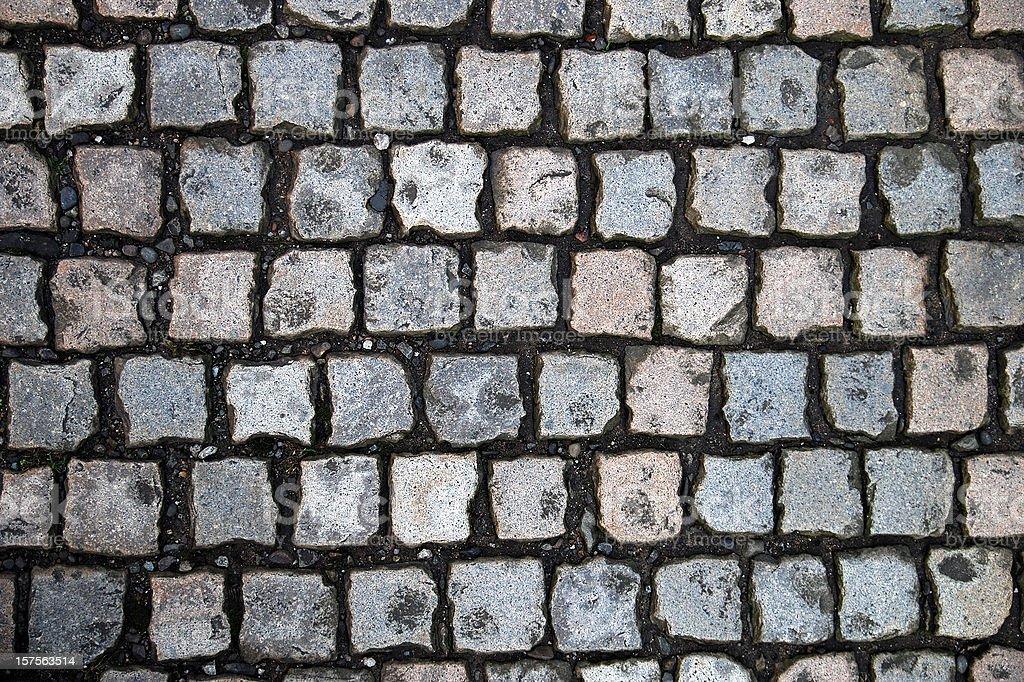 Cobblestone texture background stock photo