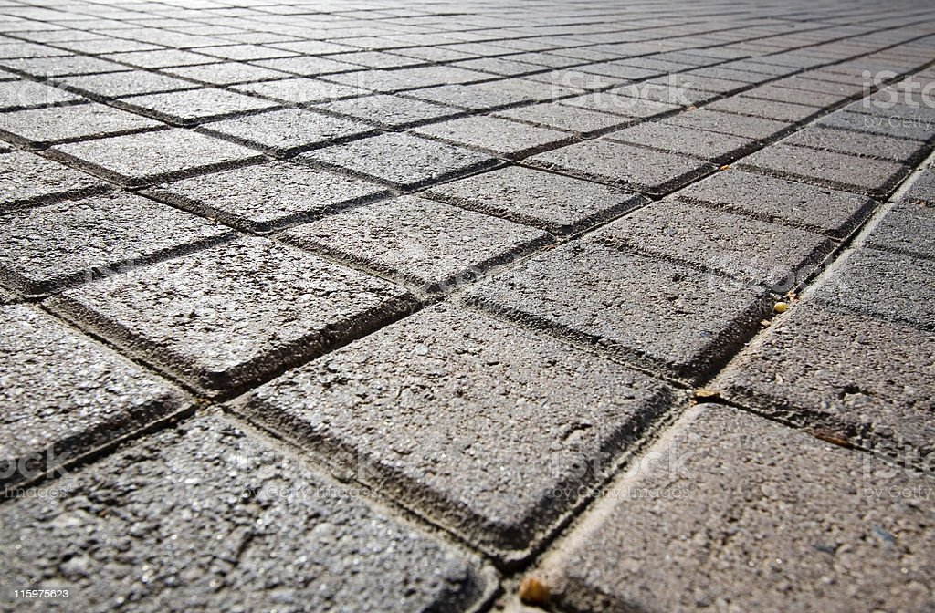 Cobblestone textured walkway royalty-free stock photo