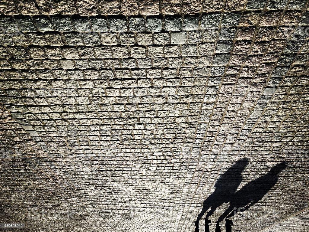 Cobblestone Walk stock photo