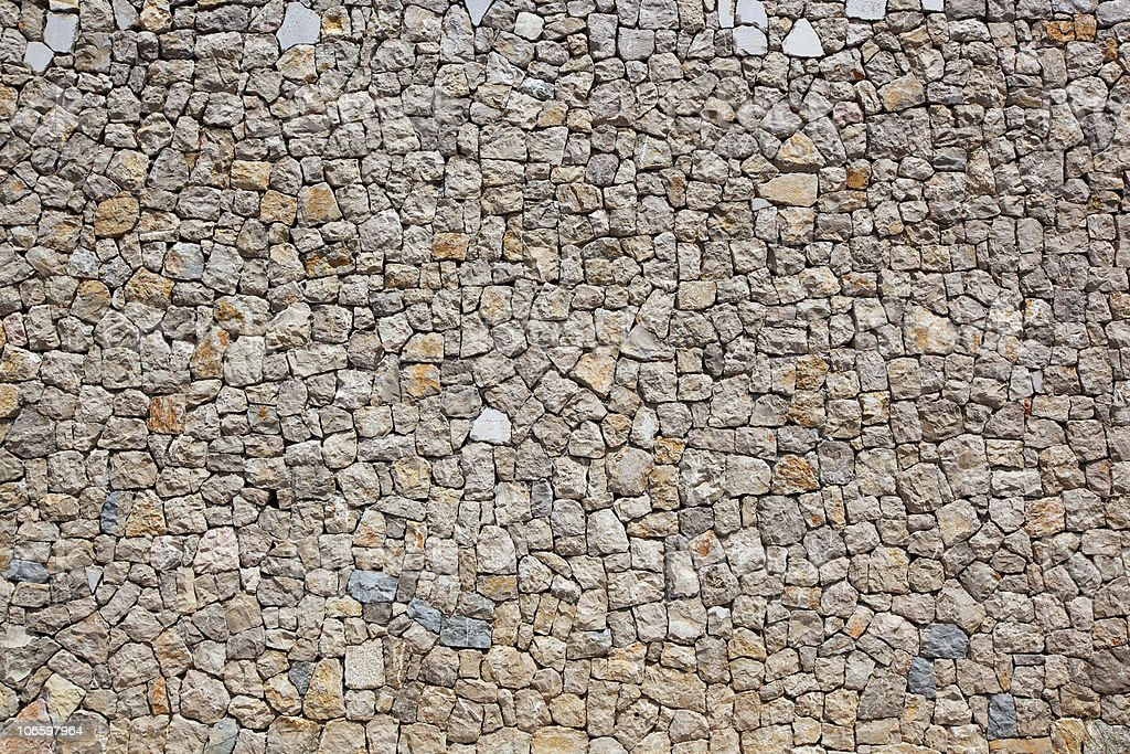 cobblestone wall stock photo