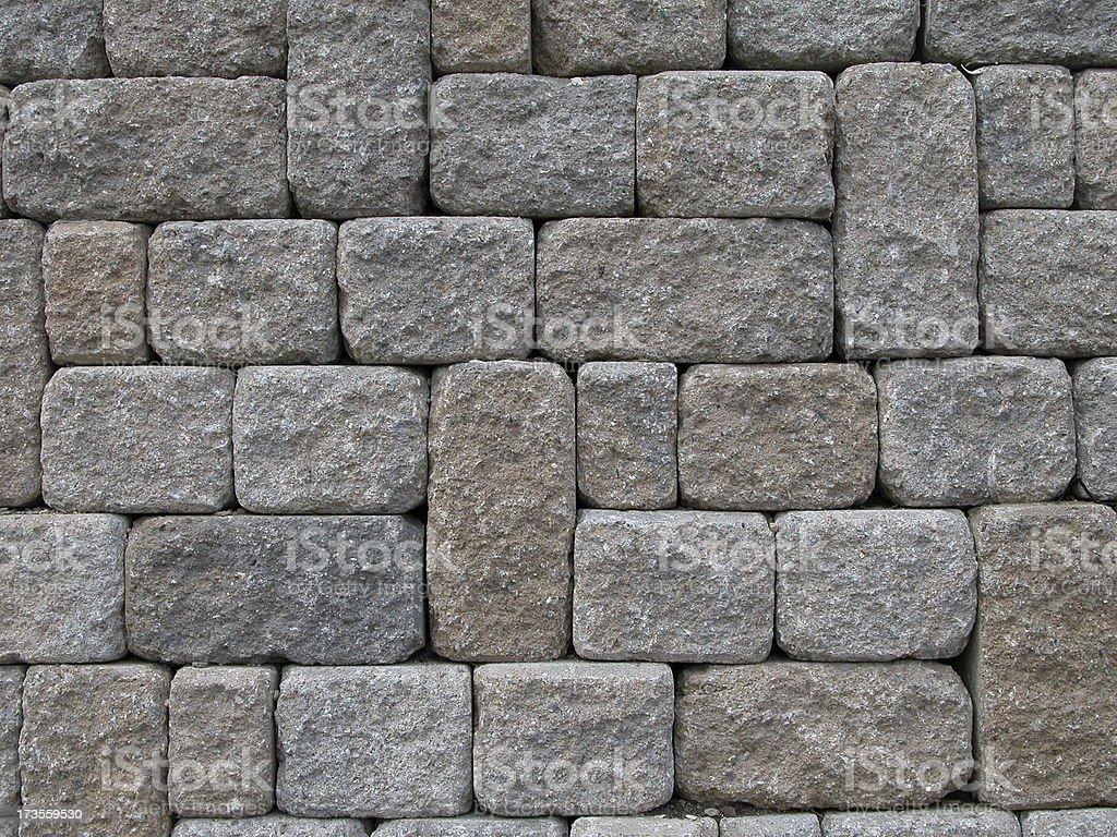Cobblestone wall royalty-free stock photo