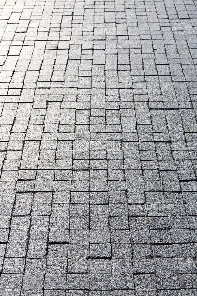 Cobblestone with reflection royalty-free stock photo