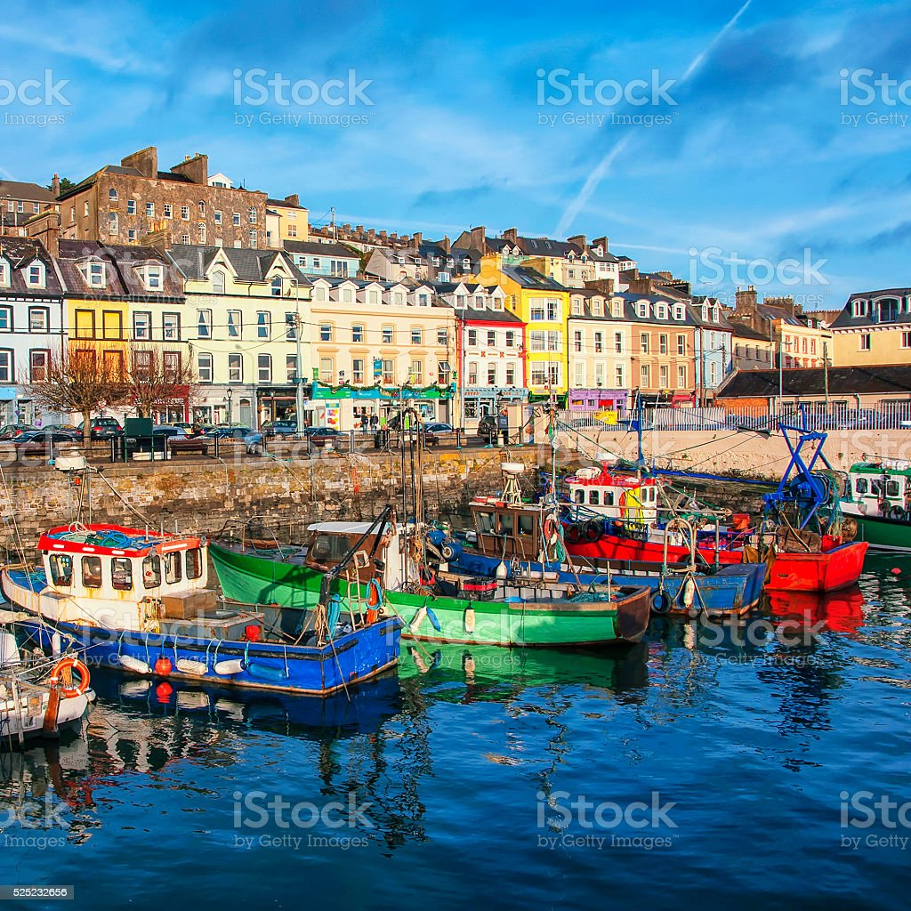 Cobh city in Ireland stock photo