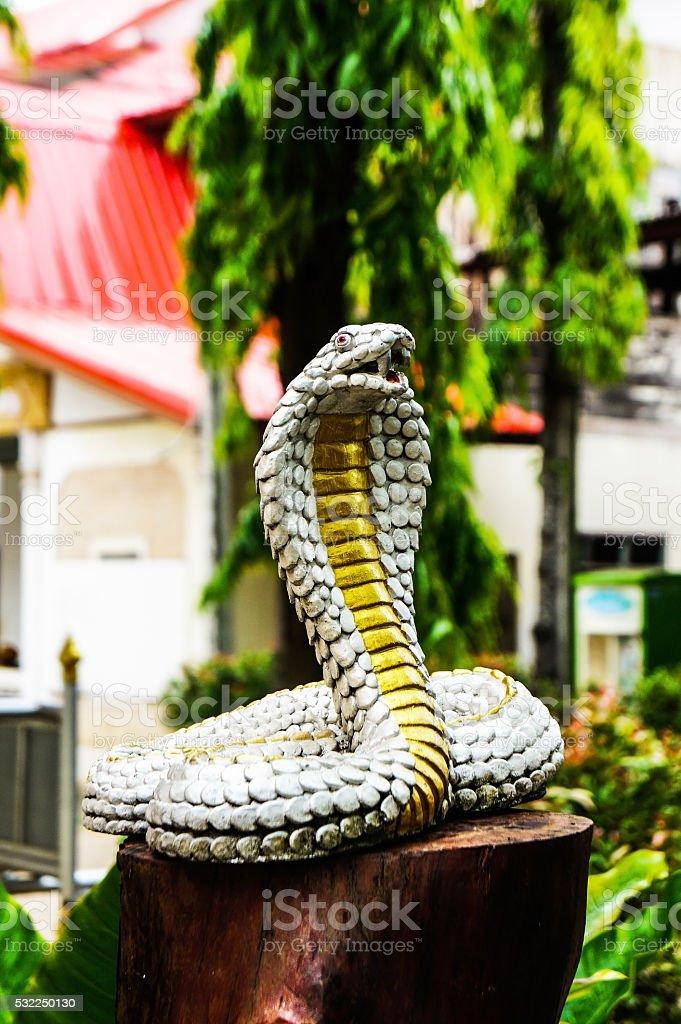 Cobra statue stock photo