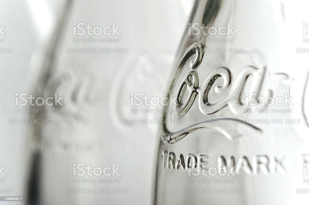 Coca Cola bottle stock photo