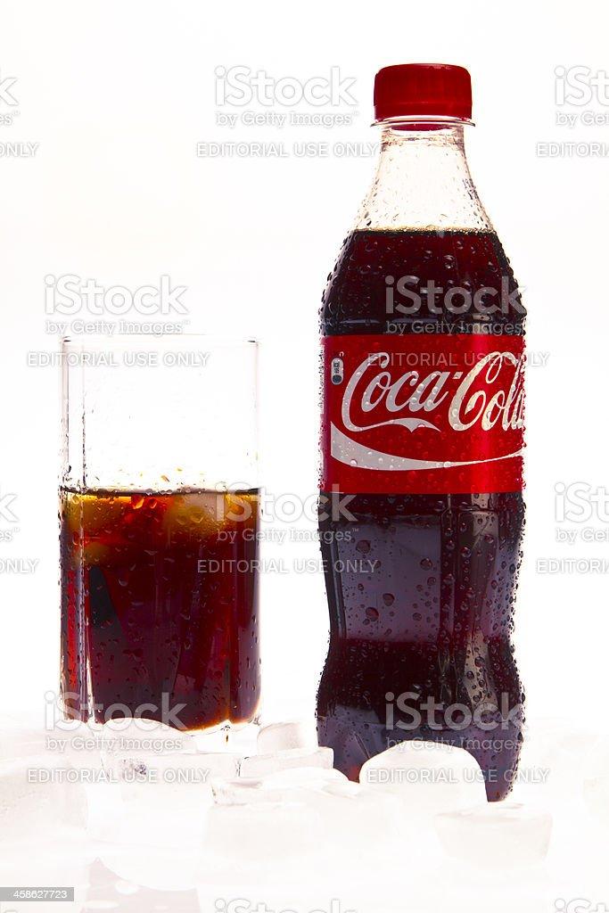 Coca Cola Bottle royalty-free stock photo