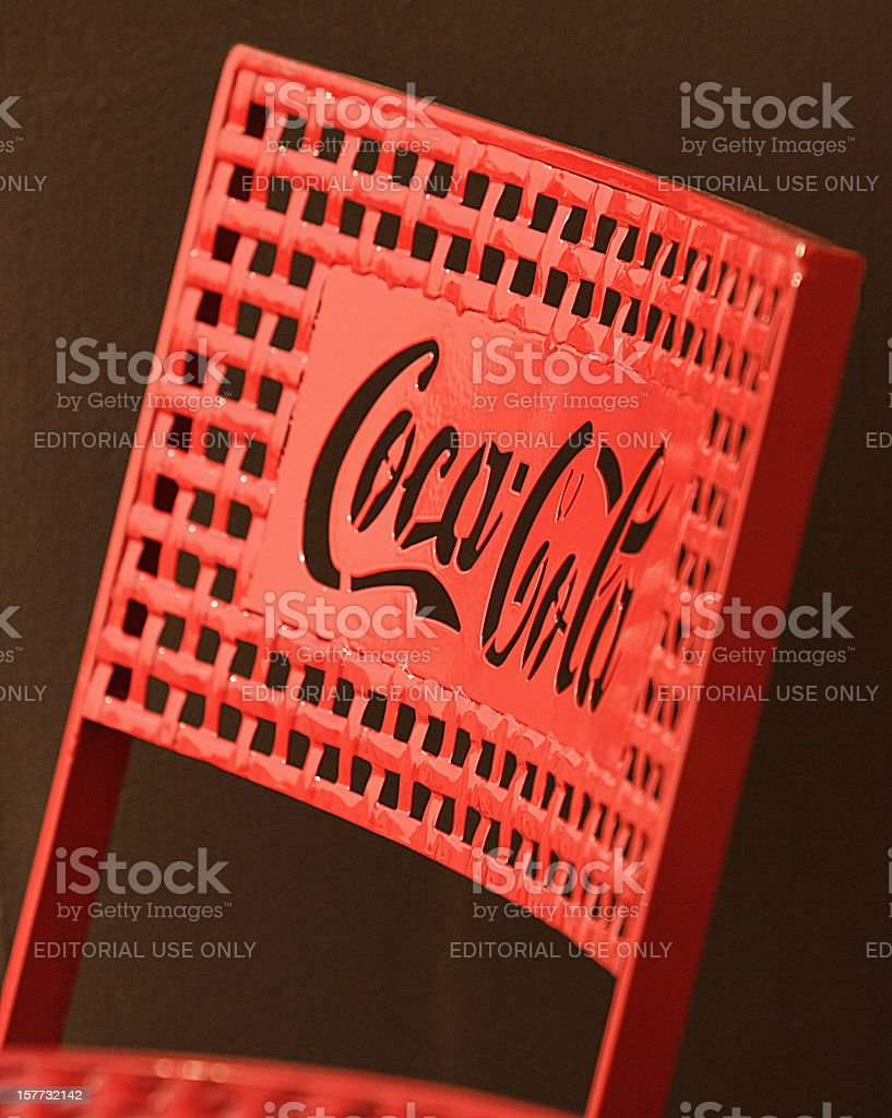 Coca Cola Brand Logo Chair stock photo