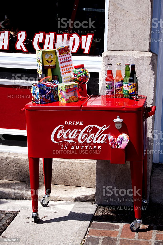 Coca Cola Cooler stock photo
