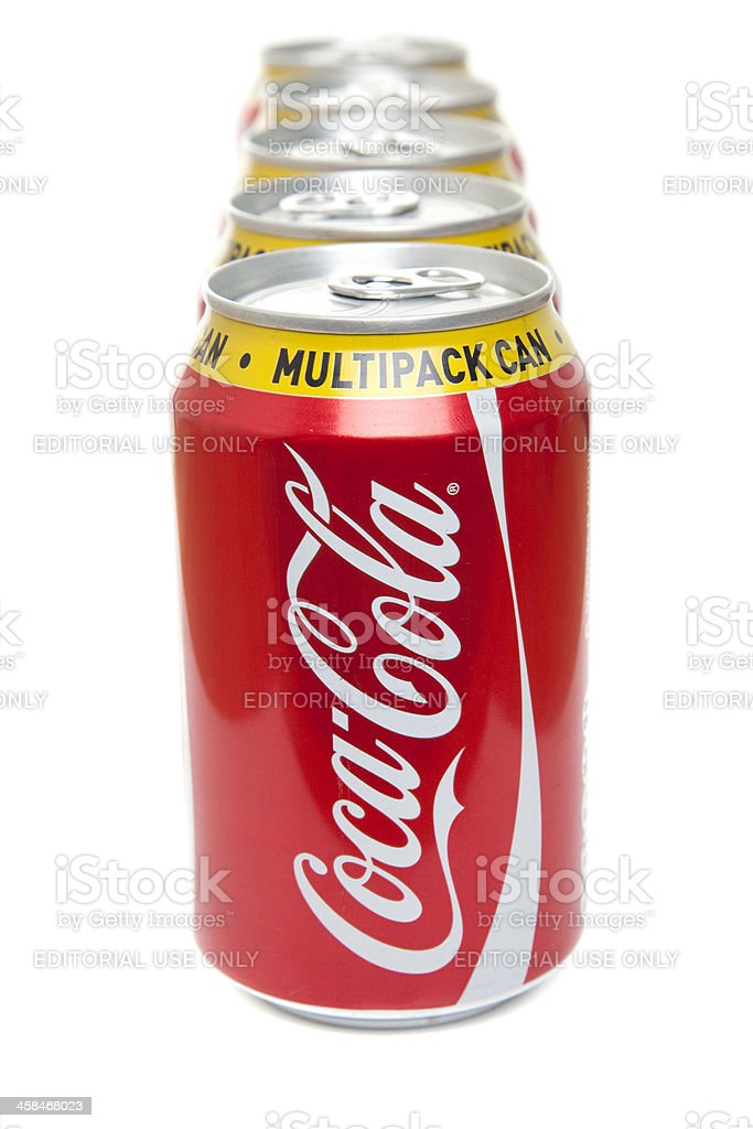 Coca Cola drinks cans royalty-free stock photo