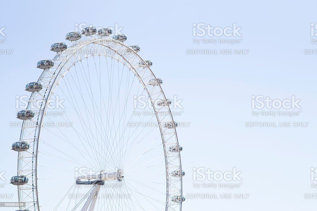 coca cola london eye with clear bue skies stock photo