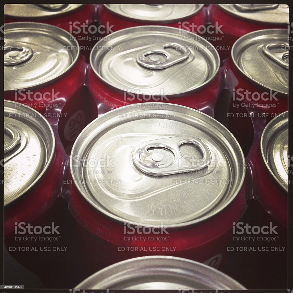 Coca Cola Mini Cans stock photo