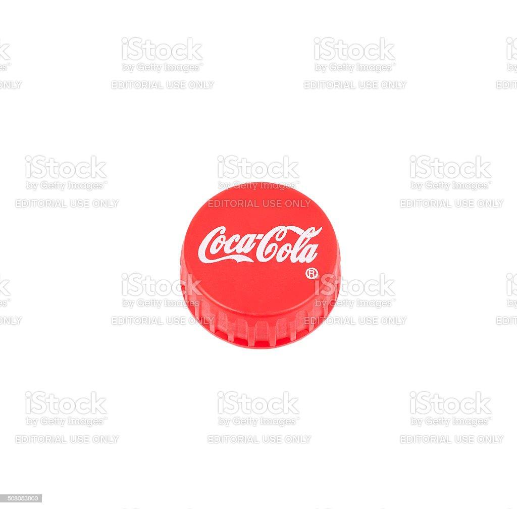 Coca Cola Plastic Cap stock photo