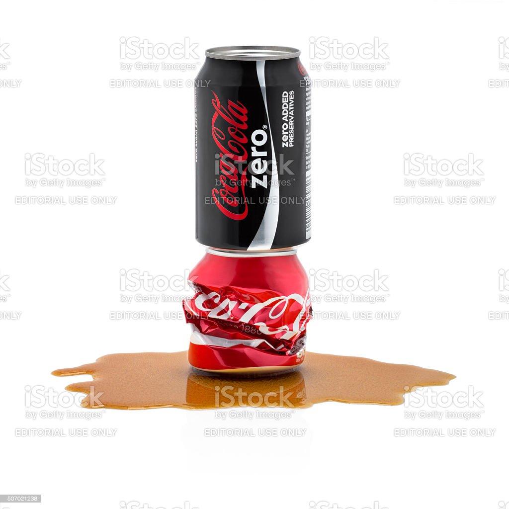 Coca Cola Zero is competing out Coca cola original stock photo