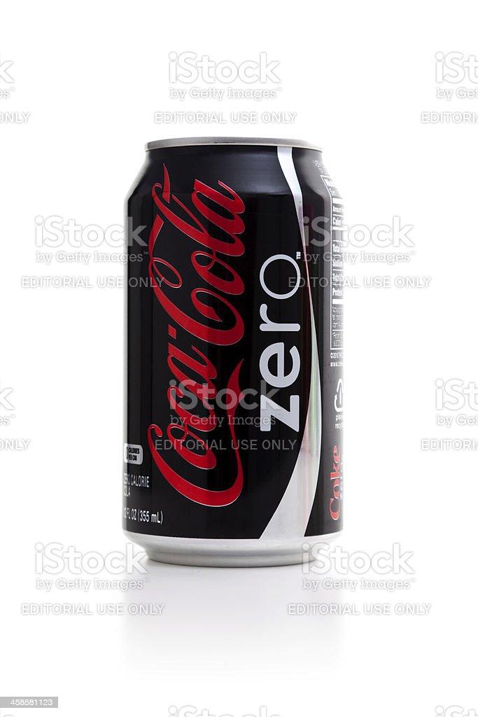 Coca cola zero stock photo