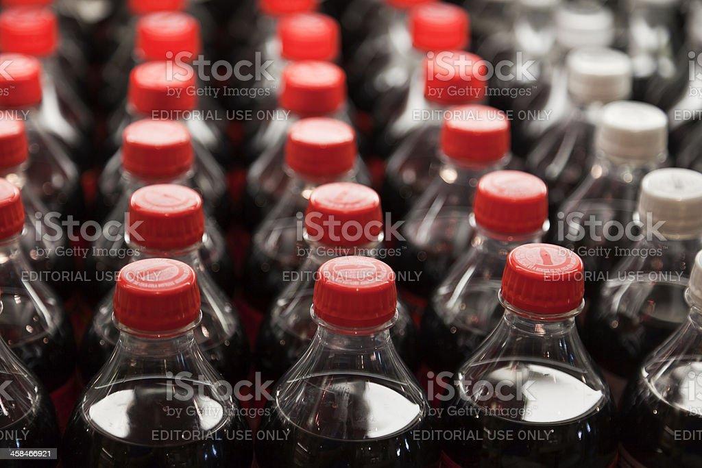 Coca-Cola Bottles stock photo