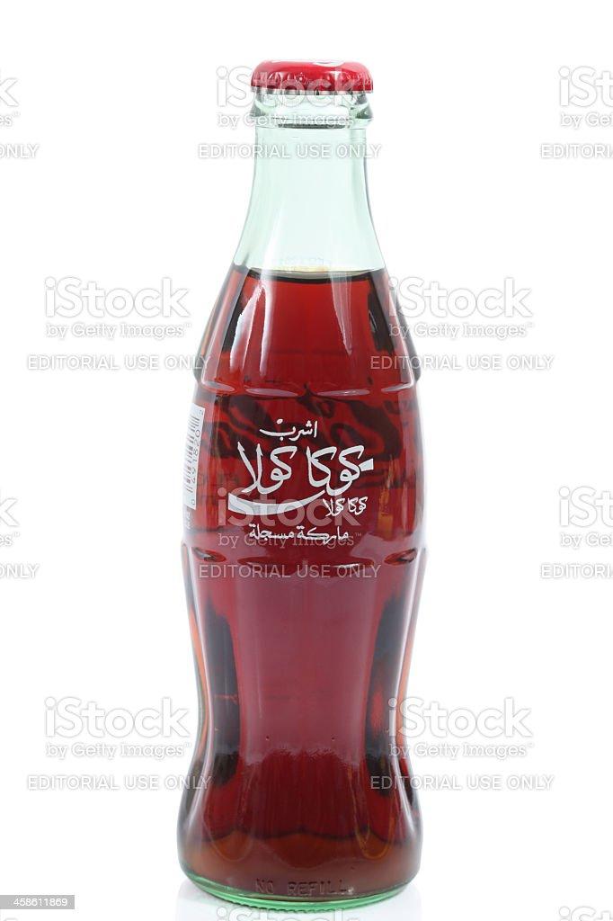 Coca-Cola Classic in Arabic royalty-free stock photo