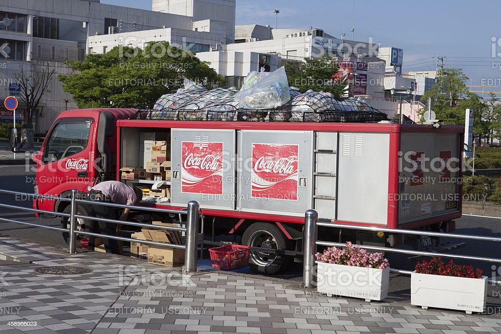 Coca-Cola Delivery Truck in Japan stock photo