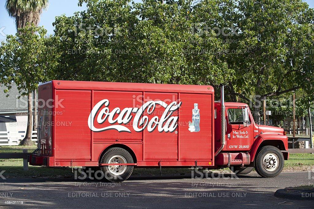 Coca-Cola Delivery Truck stock photo