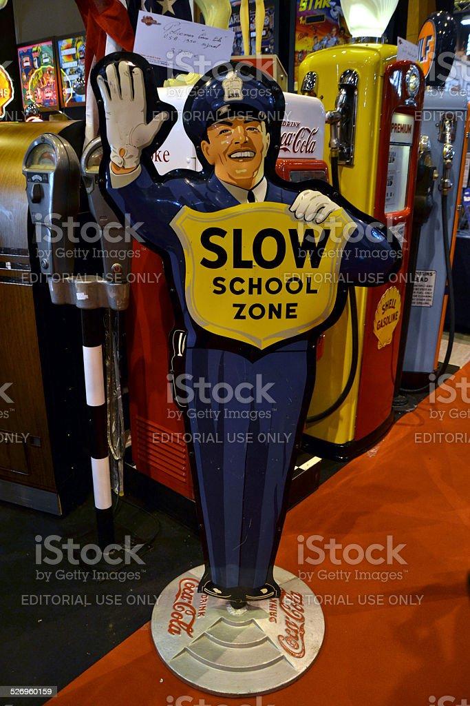Coca-Cola policeman figure stock photo