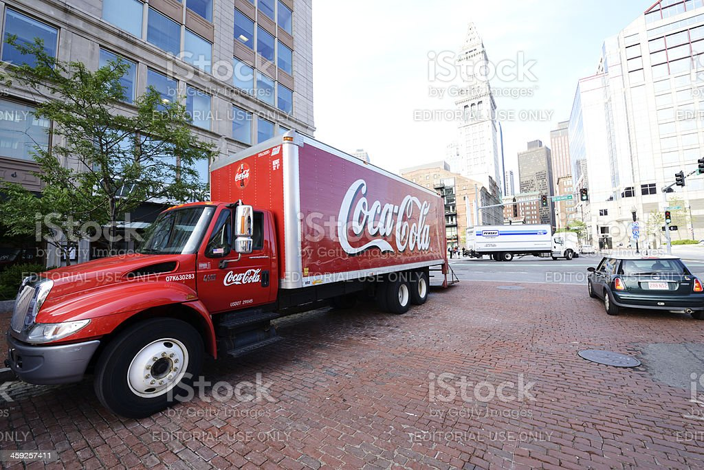 Coca-Cola Truck,Boston royalty-free stock photo
