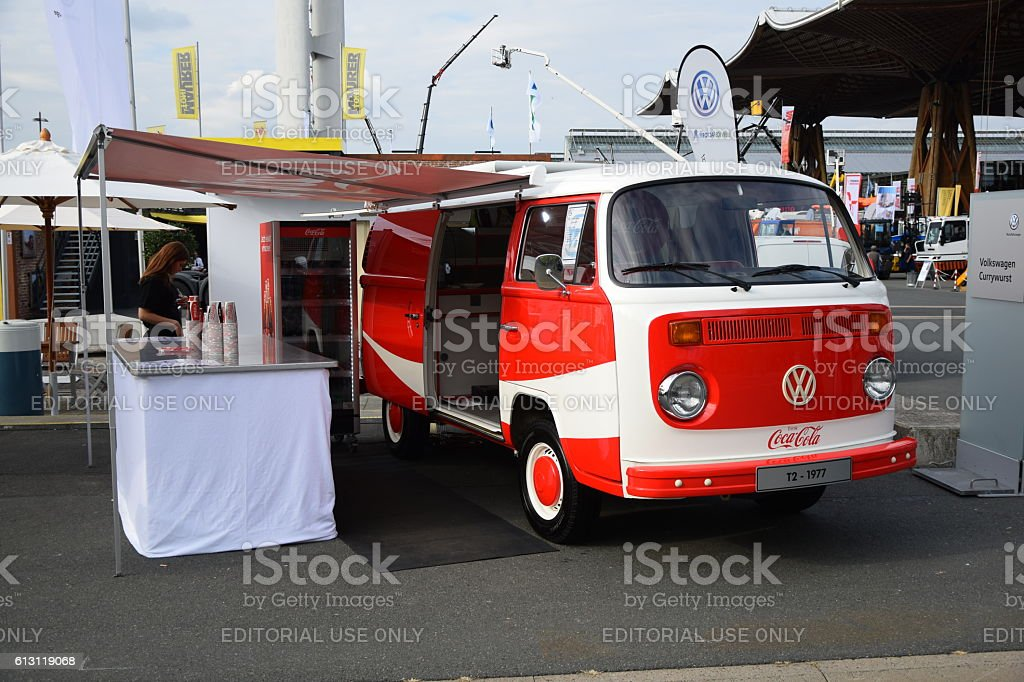 Coca-Cola van based on the old vehicle stock photo