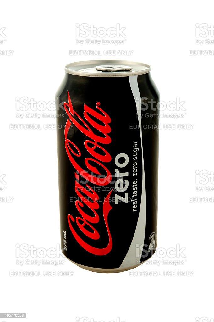 Coca-Cola Zero Can stock photo
