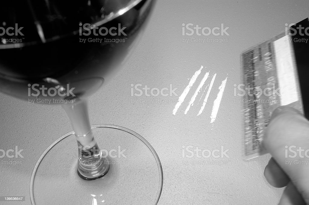 cocaine and wine 2 royalty-free stock photo
