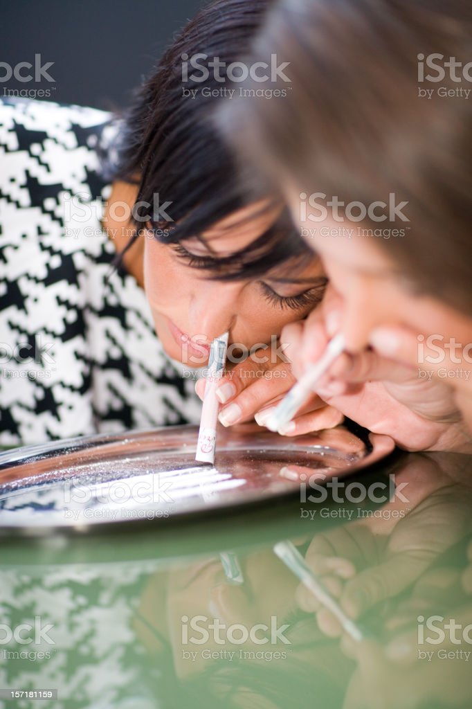 Cocaine Drug Girls royalty-free stock photo