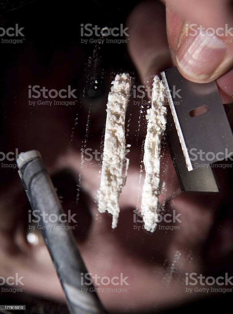 cocaine habit drugs royalty-free stock photo